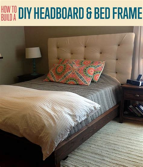 build a bed headboard how to build a headboard and bed frame diy projects craft