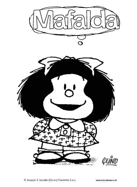 mafalda mafalda 1 coloriage de mafalda est une petite fille tr 232 s souriante personnage cr 233 233 par quino