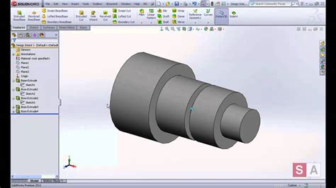 solidworks tutorial lesson 1 solidworks essentials lesson 1 design intent youtube