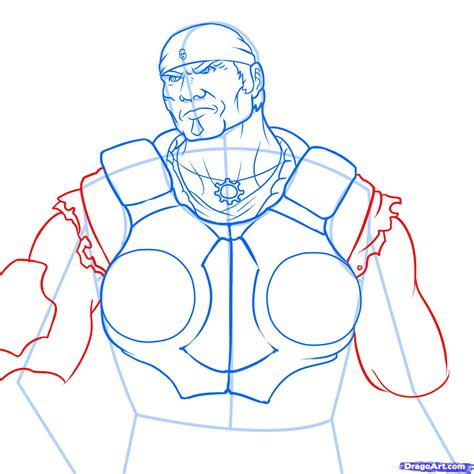how to draw marcus fenix gears of war 3 step by step
