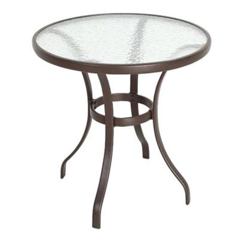 home depot patio table mix and match 28 in patio bistro table fts00899b the