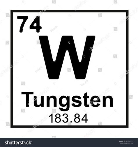 periodic table element tungsten stock vector 467717723
