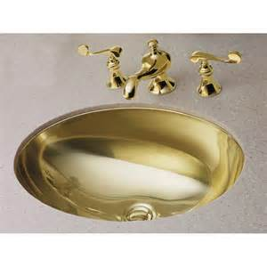 kohler undermount bathroom sink shop kohler rhythm mirror gold stainless steel