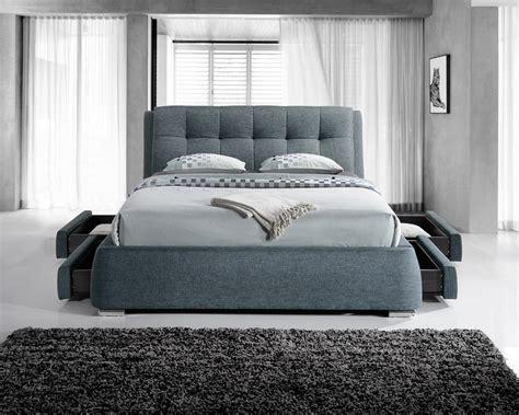 artisan bed artisan 4 drawer 5ft kingsize fabric bedframe dark grey