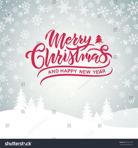 merry christmas happy  year typography stock vector  shutterstock