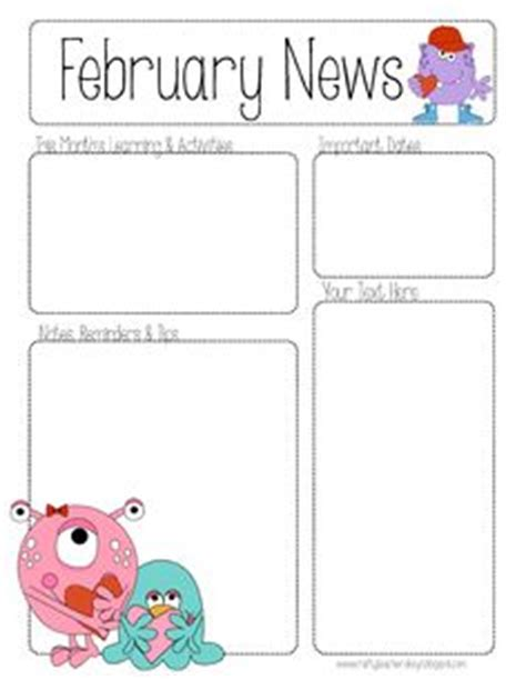february newsletter template 1000 images about newsletter templates on pinterest newsletter templates preschool