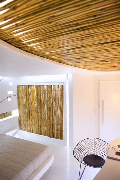 The Bamboo Ceiling by Stunning Hotel Andronikos Mykonos Interior With Bamboo