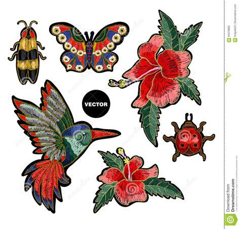 fiori ricamo colibr 236 ricamo fiori dell ibisco farfalla e