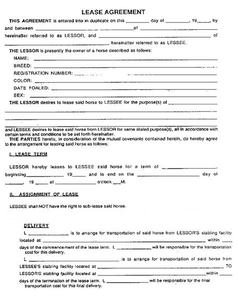 furniture rental agreement template 8 best lease agreements images on sle