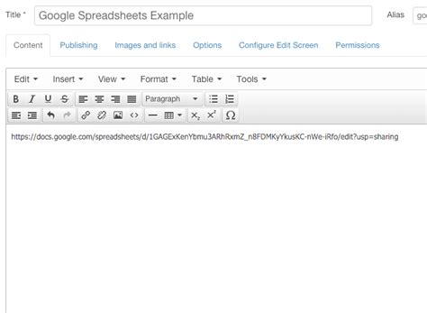 Spreadsheet Url by How To Embed Spreadsheets In Joomla