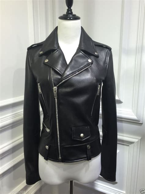 black moto jacket real leather biker jacket womens jackets review
