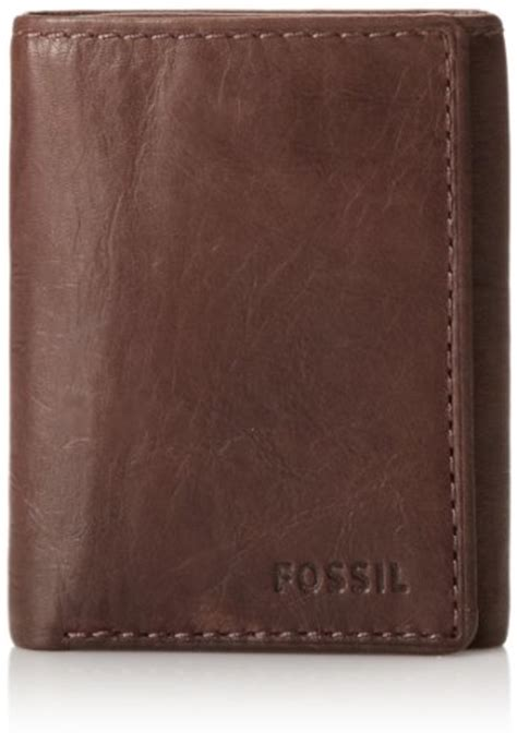 Fossil Ingram Trifold Brown Wallet fossil ingram capacity trifold s wallet brown fossil http www dp