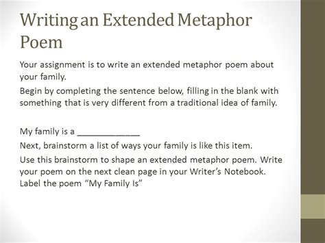 exle of extended metaphor figurative language metaphors ppt