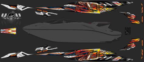 seadoo boat tricks seadoo speedster 200 custom graphics wrap