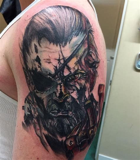 metal gear solid tattoo venom snake from metal gear solid done by at