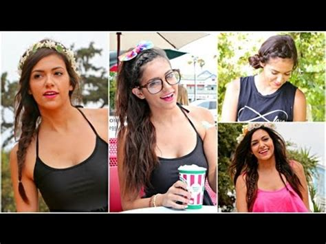 and easy hairstyles for school bethany mota 5 easy no heat summer hairstyles ways to style them