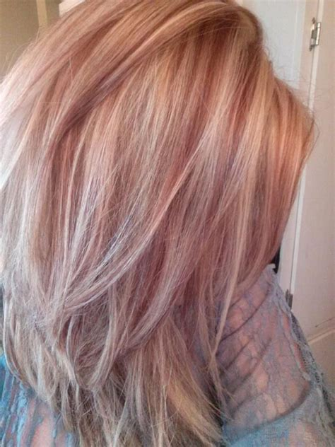 blonde and burgundy high and low lights for short ladies hairstyles light blonde with red lowlights for fall hair