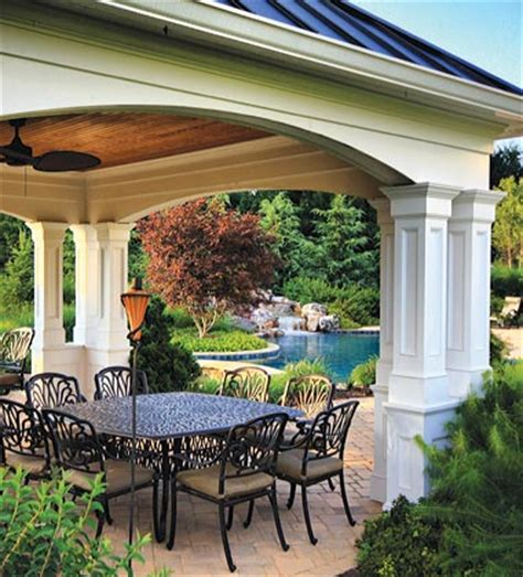 mclean great falls pergola porch pool house design