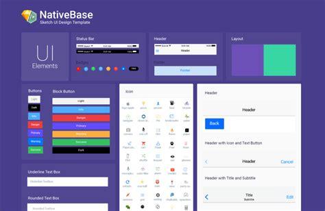 design native app nativebase sketch template design your react native app