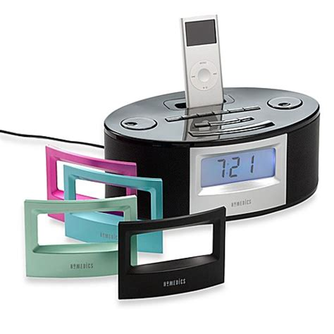 homedics 174 soundspa 174 fusion am fm alarm clock radio with ipod station bed bath beyond