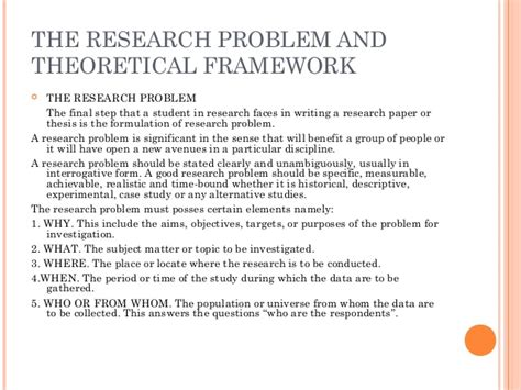 sle of conceptual framework in research paper sle of theoretical framework in research paper