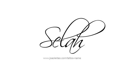 tattoo design name selah in your skin pinterest