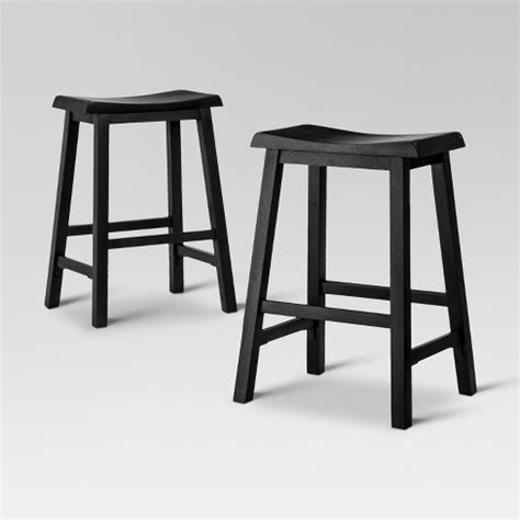 Trenton Counter Height Stool by Trenton 24 Quot Counter Stool Black Set Of 2 Target