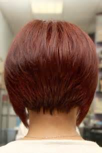pictures of the back of a wedge hair cut wedge hairstyle back view short hairstyles ideas