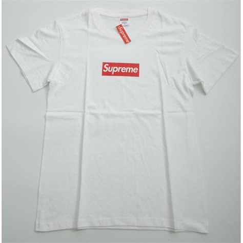 supreme shirts supreme plain logo t shirt white