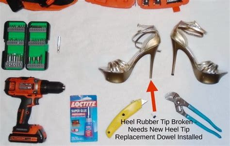 high heel shoe repair diy rubber tip replacement