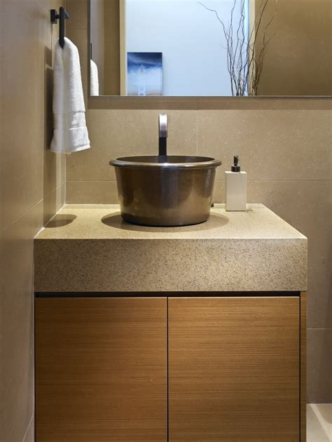 powder room sinks copper vessel sinks bathroom transitional with beige