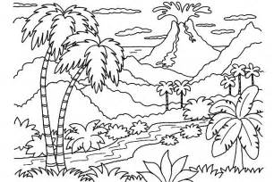 simple nature coloring pages 12 coloring pages volcano print color craft