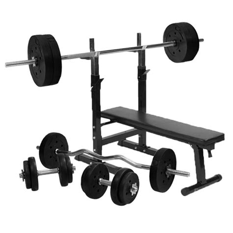 complete weight bench set gorilla sports weight bench with 100kg vinyl weight set ebay