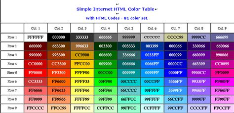 color code in html html color codes tool wonderful place to