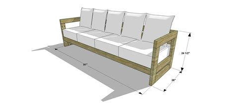 build outdoor sofa the design confidential diy furniture plans how to build