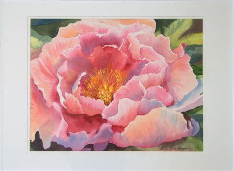 watercolor tutorial peony framed peony painting by laura kirste cbell my