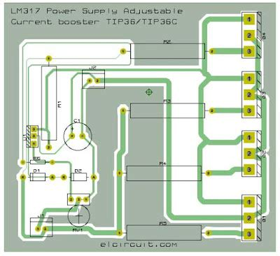 layout guidelines for power supply 10a lm317 adjustable power supply and current booster