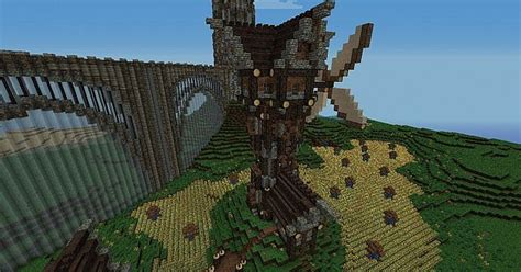 Medieval Windmill + farm Minecraft Project Minecraft Windmill Farm