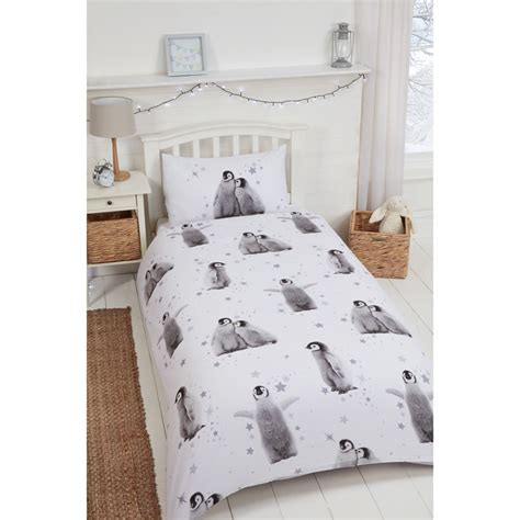 Penguin Bed Set Penguin Brushed Cotton Duvet Set Single Bedding B M