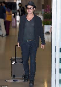 Brad Pitt flys to South Korea for Fury premiere   Daily