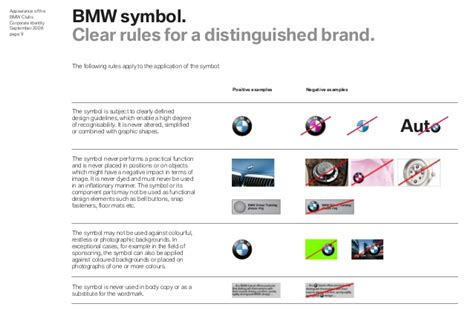 bmw clubs design guidelines  appearance