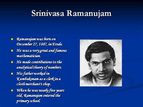 a presentation on mathematicians ramanujam authorstream