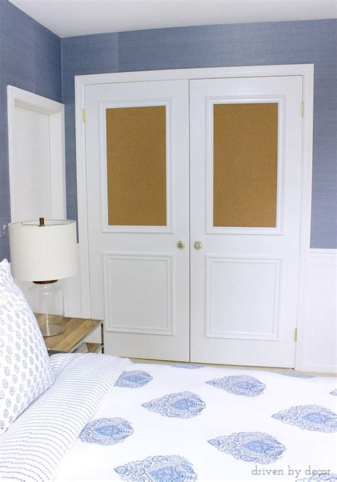 cork board closet doors boring flat doors no more