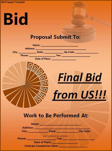 for bid bid template free printable word templates