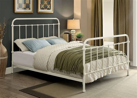 metal full bed frame clara vintage style white full size metal bed frame