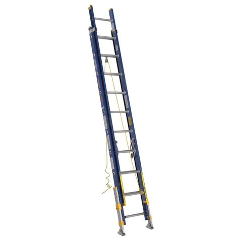 werner 24 ft fiberglass extension ladder with 300 lb