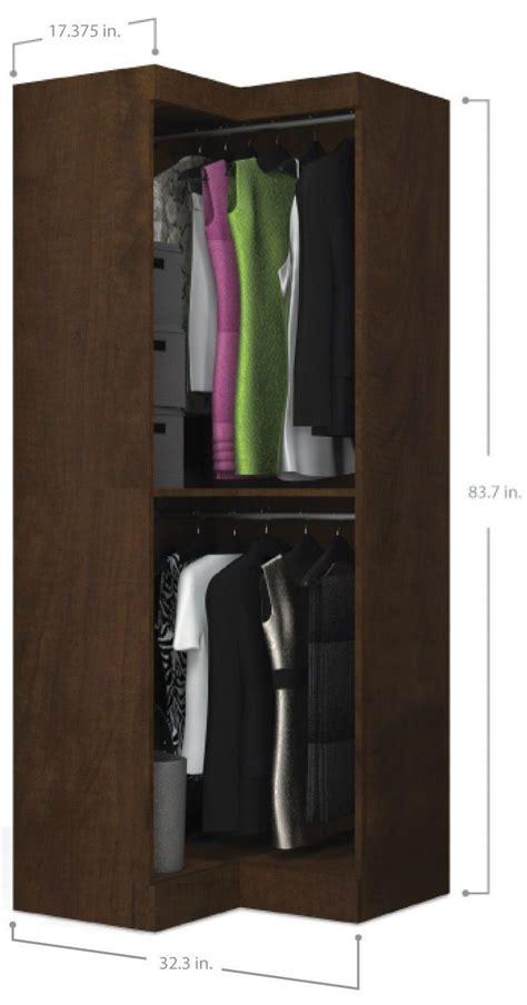 Chocolate Wardrobe by Pur Chocolate Corner Unit 26165 69 Bestar
