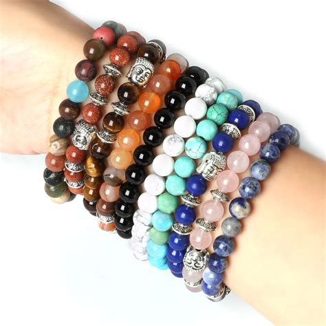cheap bead bracelets wholesale s beaded buddha bracelet turquoise black