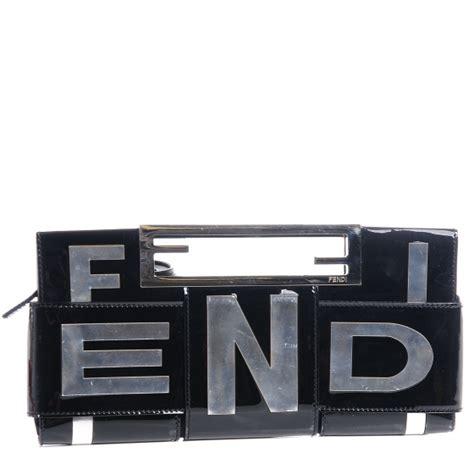 Fendi Crossword Patent Clutch by Fendi Crossword Bag Fendi Shopping
