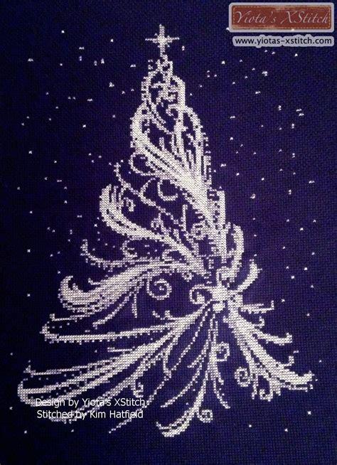 christmas tree needlepoint pattern white christmas tree cross stitch kit pattern yiotas